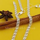 Серебряная цепочка Арабка с камнями. Женское колье из серебра., фото 10
