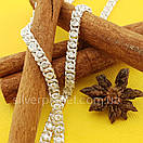 Серебряная цепочка Арабка с камнями. Женское колье из серебра., фото 5