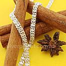 Срібна ланцюжок Арабка з камінням. Жіноче кольє з срібла., фото 5