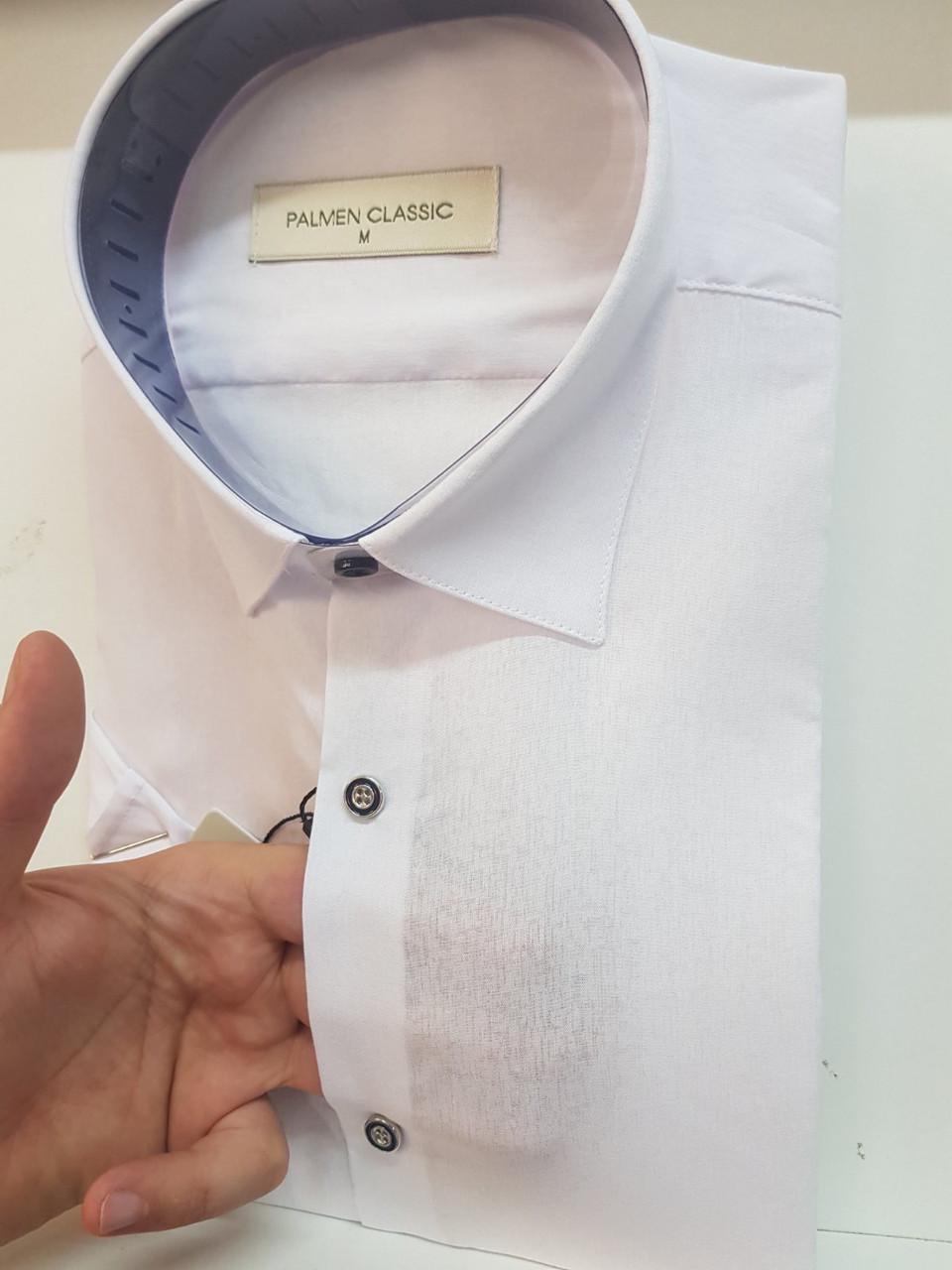 Белая рубашка с коротким рукавом Palmen