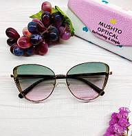 Женские солнцезащитные очки бабочки с розово-голубым градиентом, фото 1
