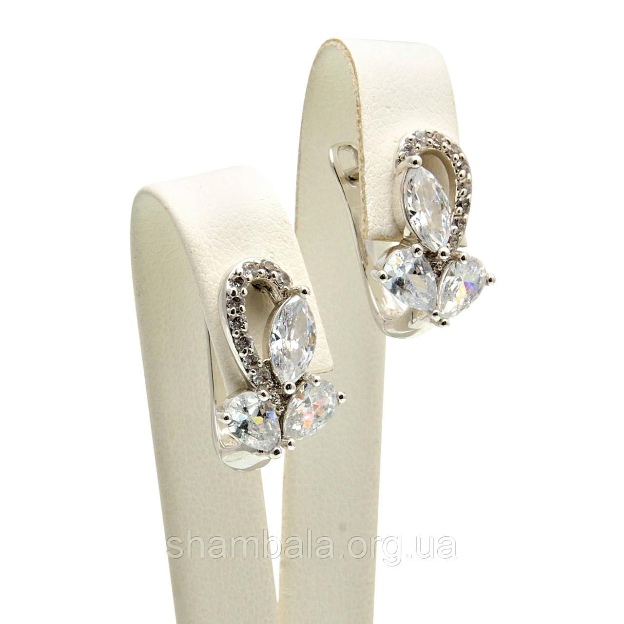 """Серьги Xuping Jewelry """"Серебряные лепестки"""" (032269)"""