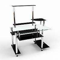 Стеклянный компьютерный стол модель Сенатор