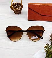 Женские солнцезащитные очки бабочки с коричневым градиентом, фото 1