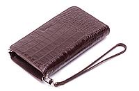 Мужское портмоне - клатч Karya 0709-57 коричневого цвета