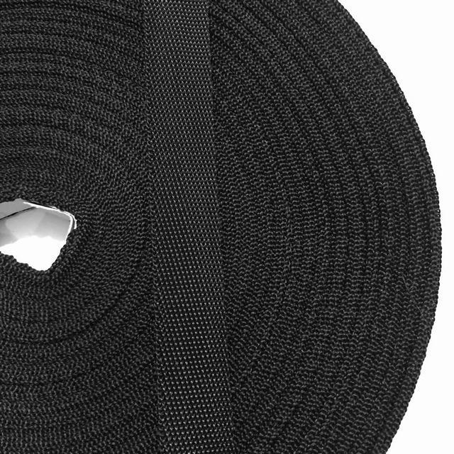 Лента ременная 100% Полипропилен 20мм цв черный (боб 50м) р 2832 Укр-б