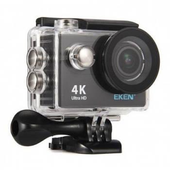 Экшн-камера EKEN B5R ver.2 UHD4K 4096 x 2160 Black с пультом ДУ, комплект креплений, Аквабокс до 30 метров