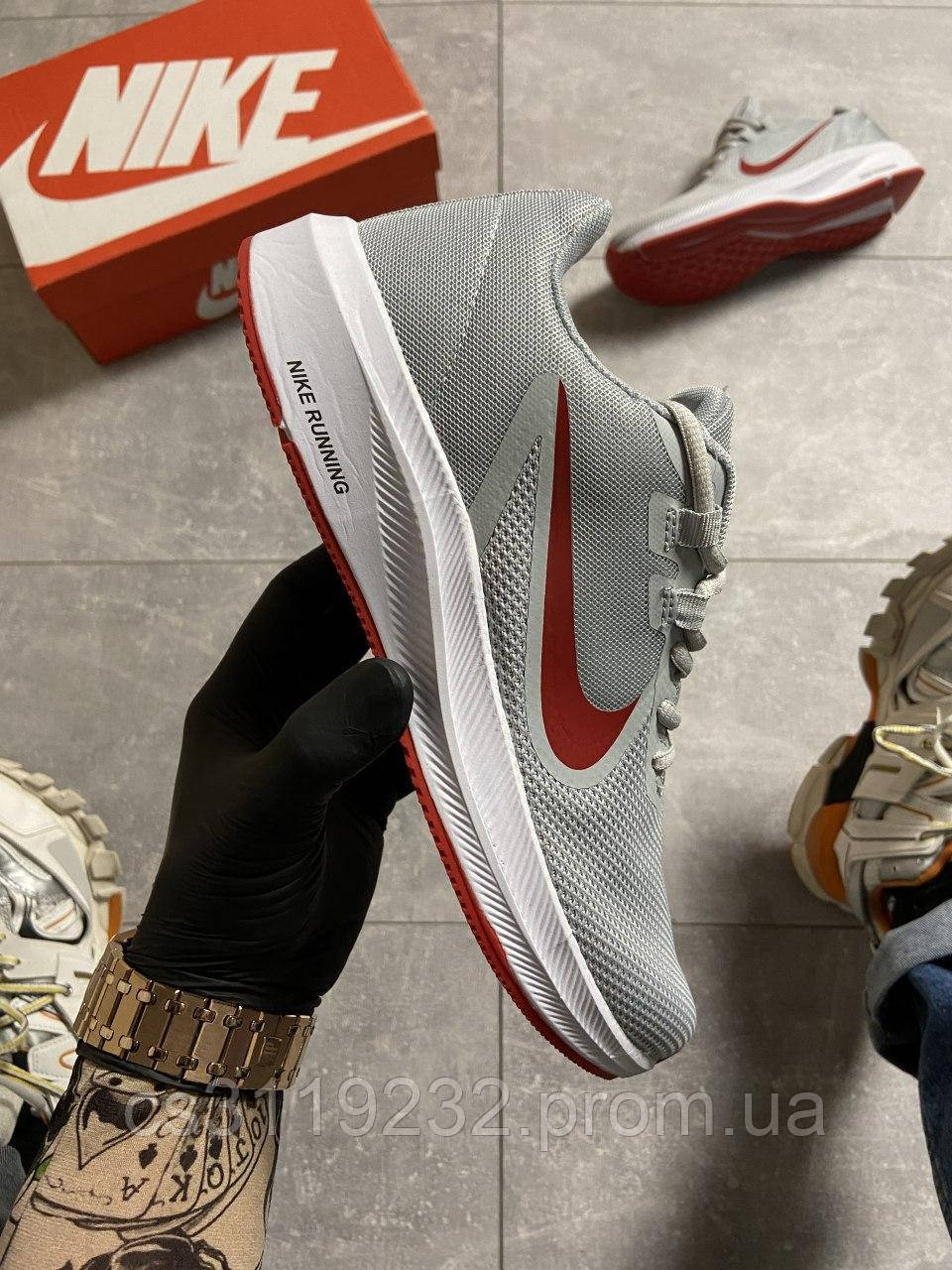 Мужские кроссовки Nike Runner 2 Gray/Red (серые)