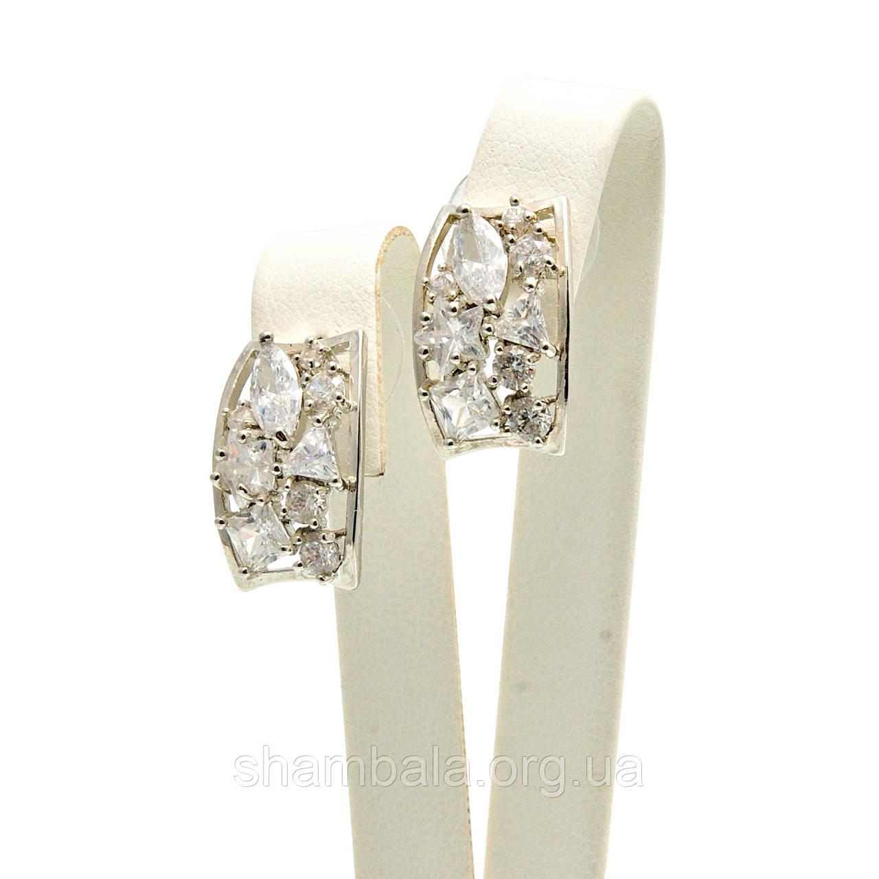 "Серьги Xuping Jewelry ""Large Swarovski stones"" серебро (009612)"