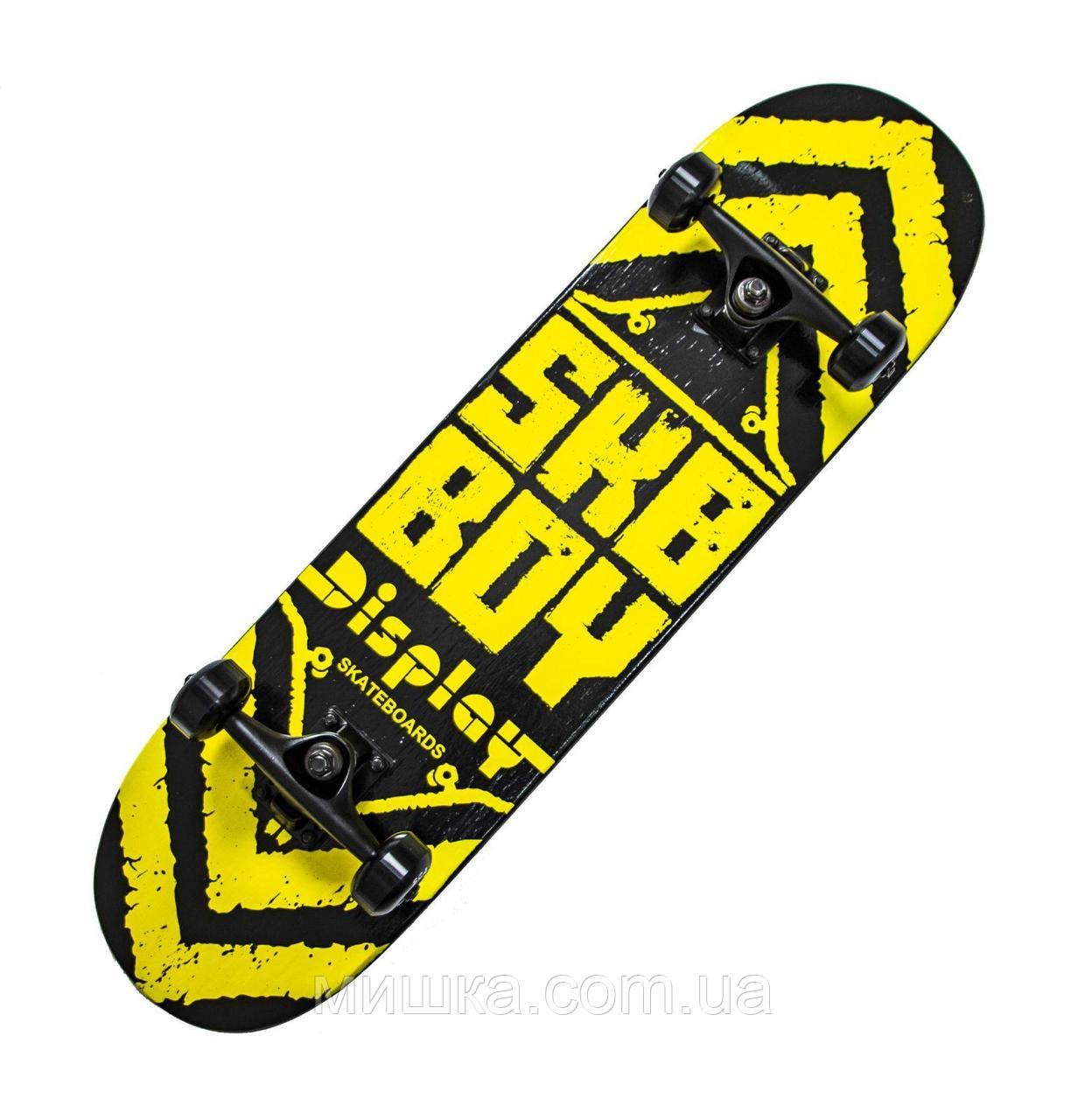"""Дерев'яний скейтборд """"SKY BOY"""", жовтий, 79*20 см"""