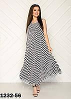 Красивые летние платья женские в полоску размеры 54-58