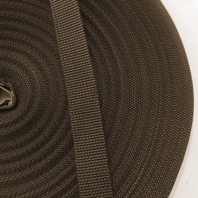 Стрічка ремінна 100% Поліпропілен 25мм кол коричневий (боб 50м) р 2941 Укр-б
