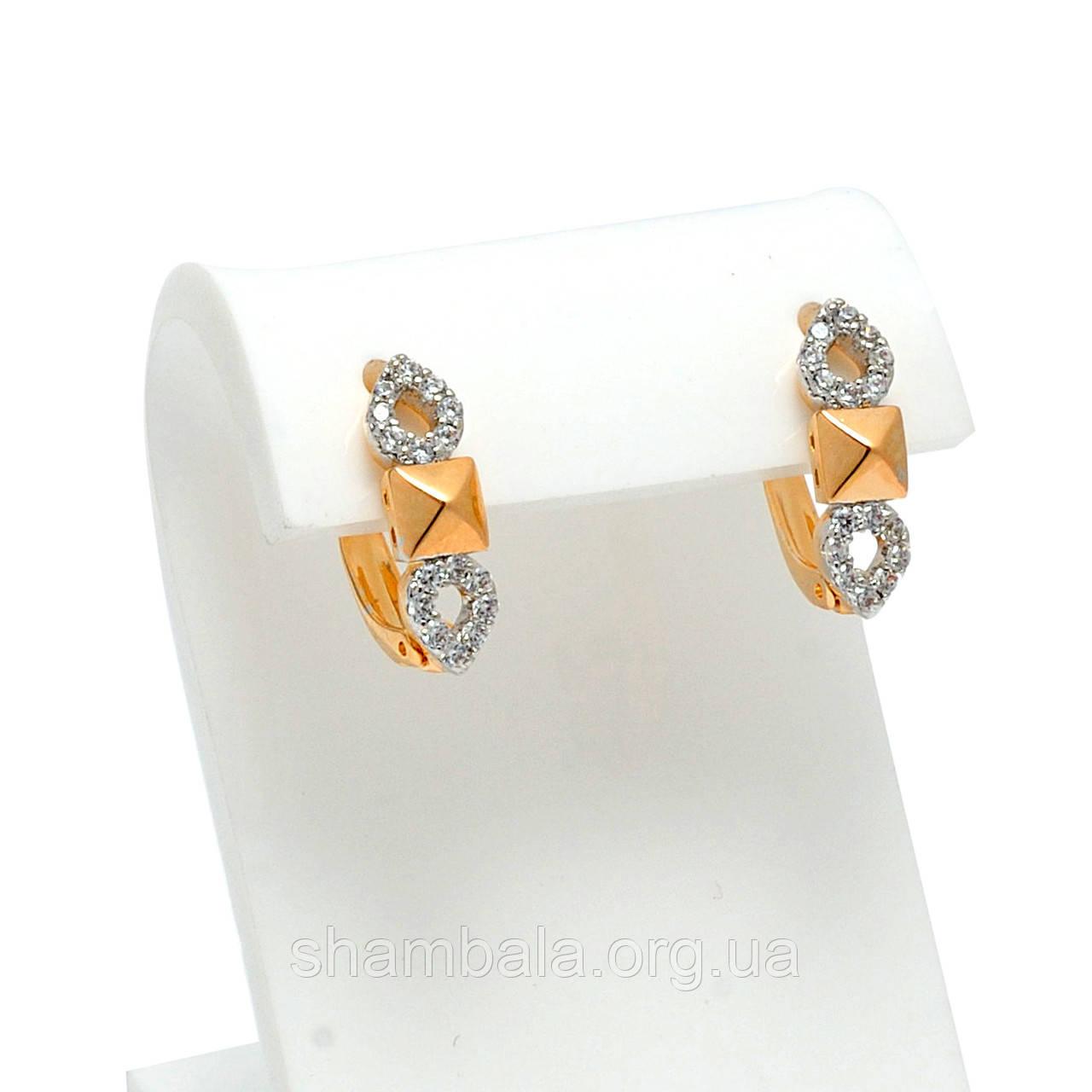 """Серьги Xuping Jewelry """"Petals in the stones"""" позолота (073309)"""