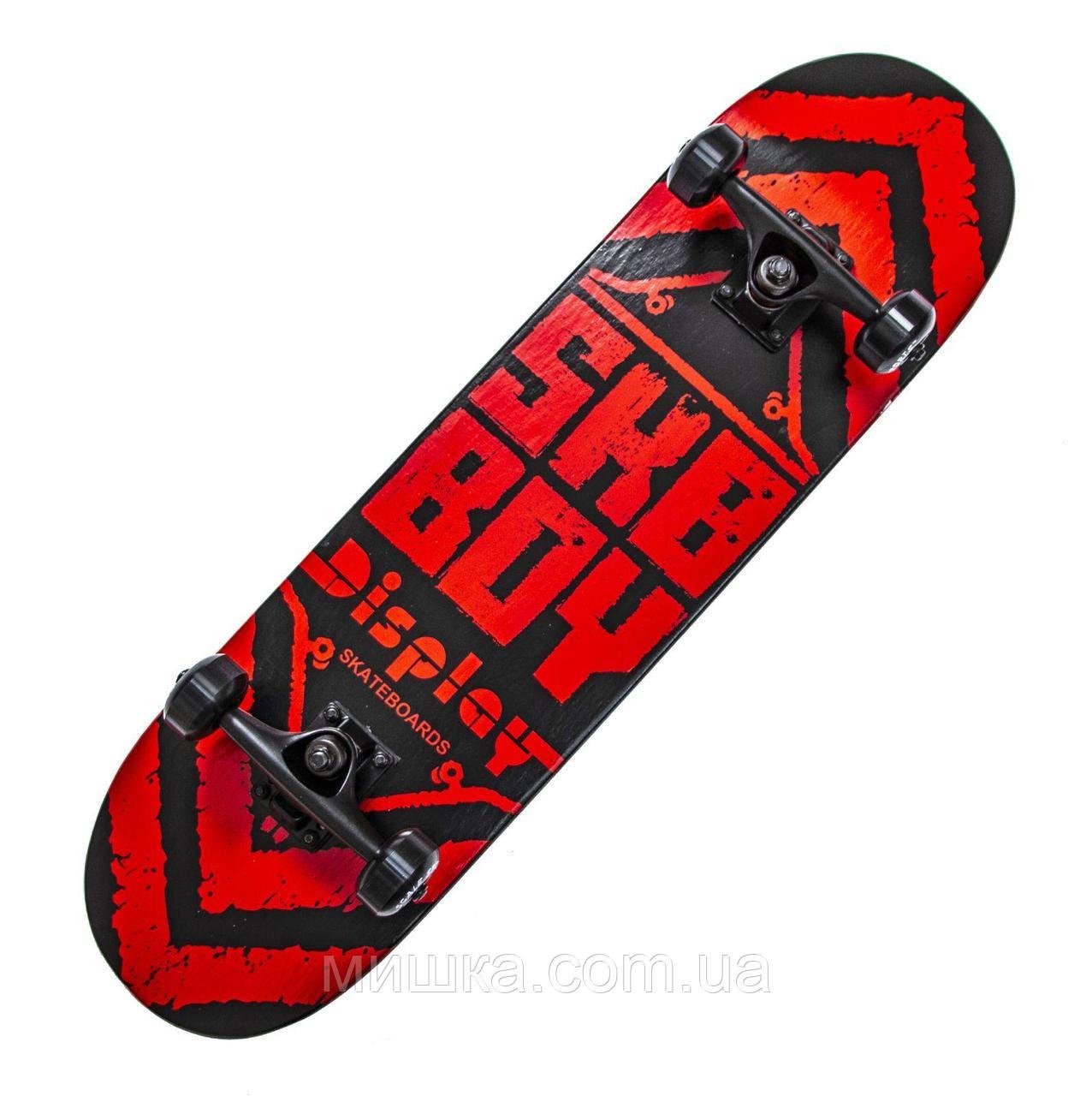 """Дерев'яний скейтборд """"SKY BOY"""", червоний, 79*20 см"""