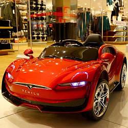 Електромобіль (Электромобиль) T-7636 EVA RED (1шт)легкована Bluetooth 2.4G Р/К 2*6V4AH мотор 2*25W з MP3 118