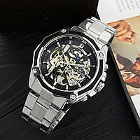 БЕСПЛАТНАЯ ДОСТАВКА! Механические мужские наручные часы скелетон Forsining С гарантией