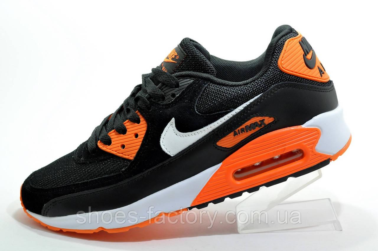Кросівки чоловічі в стилі Nike Air Max 90, Black\Orange