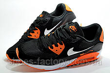 Кросівки чоловічі в стилі Nike Air Max 90, Black\Orange, фото 3
