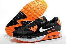 Кроссовки мужские в стиле Nike Air Max 90, Black\Orange, фото 3