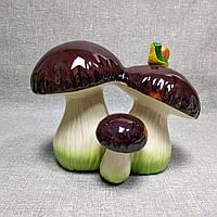 Садова фігурка Гриби з равликом, фото 1