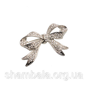 "Брошка Fashion Jewerly ""Silver bow"" (048734)"