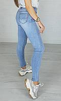 Молодежные женские джинсы Американка голубая New jeans 3666