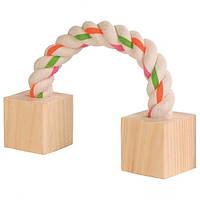 Trixie (Трикси) Игрушка для грызунов канат с двумя деревянными блоками 20см