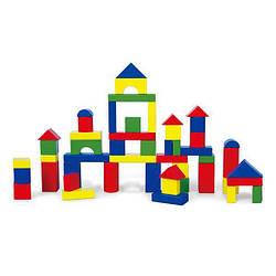 Детский набор деревянных строительных кубиков Viga Toys 50 шт., 3,5 см.