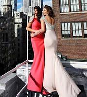Платье красное вечернее длинное