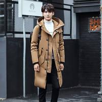 Мужское пальто-пуховик с капюшоном. Модель 6266, фото 3
