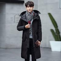 Мужское пальто-пуховик с капюшоном. Модель 6266, фото 6