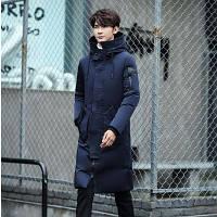 Мужское пальто-пуховик с капюшоном. Модель 6266, фото 5