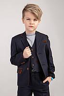 Детский  школьный костюм  темно-серого цвета 134