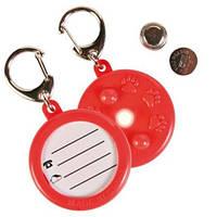 Trixie (Трикси) Медальон-адресник для собак и кошек светящийся, пластик 4см