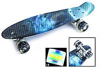 Скейт Пенни борд Penny Board Ultra Led 22 - Пенні борд Галактика 54 см