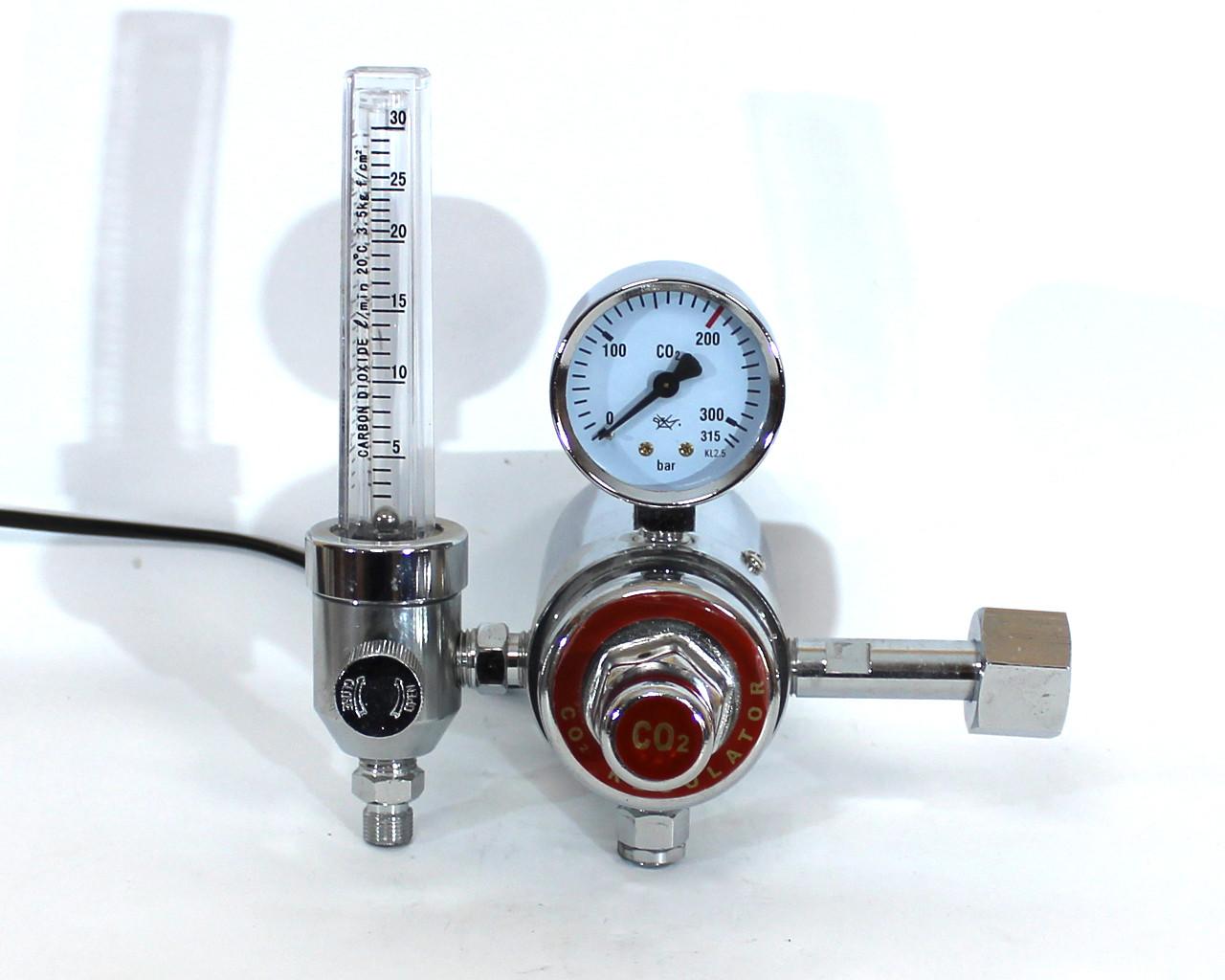 Регулятор давления (редуктор) Magnum Ar/CO2 + ротаметр + подогрев (Польша)