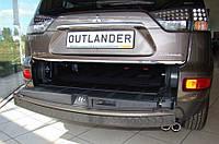Защитная накладка заднего бампера для Mitsubishi Outlander XL 2.2007>8.2012, заказ. № N-12