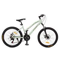 Спортивный велосипед 24 дюйма Profi G24AIRY A24.1 Бело-зеленый   Алюминевая рама SHIMANO 21SP