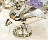 Посріблена англійська цукорниця - зольник, ківш, сріблення, Англія, вінтаж, фото 2