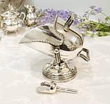 Посріблена англійська цукорниця - зольник, ківш, сріблення, Англія, вінтаж, фото 4
