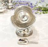 Посріблена англійська цукорниця - зольник, ківш, сріблення, Англія, вінтаж, фото 5