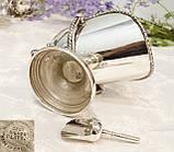 Посріблена англійська цукорниця - зольник, ківш, сріблення, Англія, вінтаж, фото 6