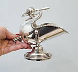 Посріблена англійська цукорниця - зольник, ківш, сріблення, Англія, вінтаж, фото 10