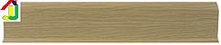 Плінтус пластиковий LinePlast L011 Дуб світлий з кабель-каналом, підлоговий з м'якими краями