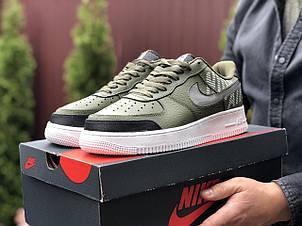Мужские кроссовки Nike Air Force,темно зеленые, фото 2