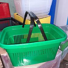 Корзина покупательская пластиковая зеленая и другие