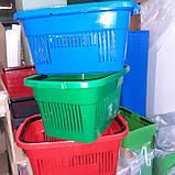 Корзинки покупательские пластиковые Корзинки для магазина, супермаркета, фото 2