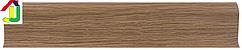 Плінтус пластиковий LinePlast L013 Дуб темний з кабель-каналом, підлоговий з м'якими краями