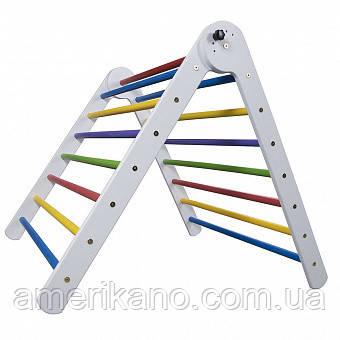 Детский деревянный тренажер треугольник пиклера от 2 месяцев. 80 см.