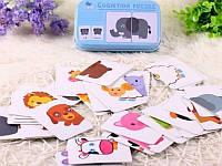 """Когнитивные карточки """"Животные"""" для детей на китайском языке"""